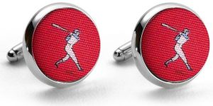 National Past-Tie: Cufflinks - Red