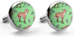 Out Foxed: Cufflinks - Lime