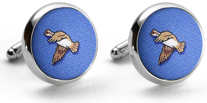 Quail Season: Cufflinks - Blue