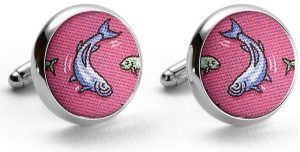 Tarpon Time: Cufflinks - Fuchsia