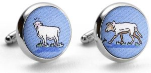 Wolf in Sheep's Clothing: Cufflinks - Blue