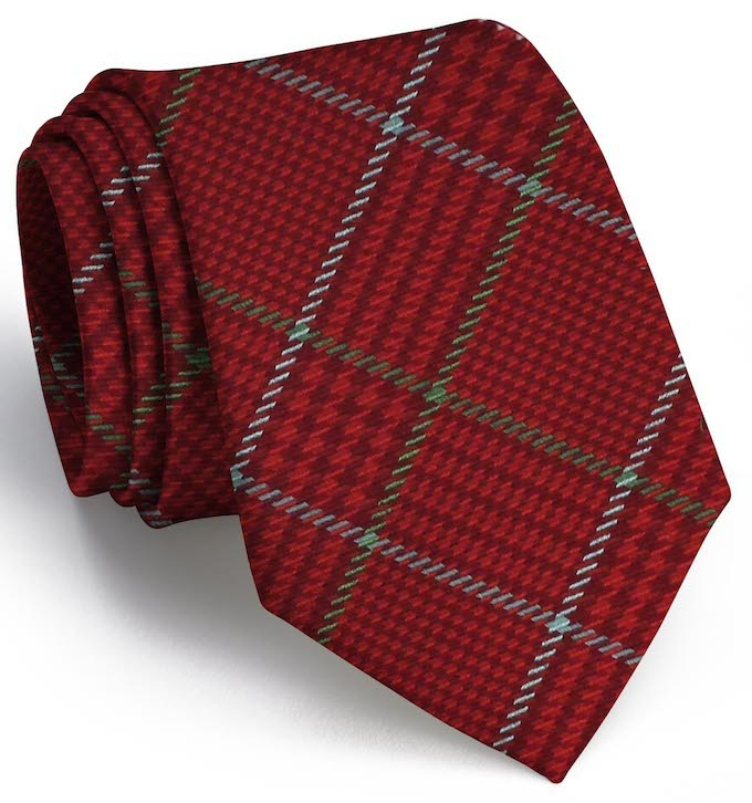 Hermann Plaid: Tie - Red