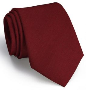 Herringbone Monte: Tie - Red