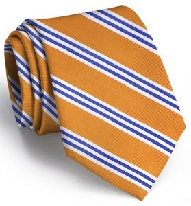 On Air Stripe: Tie - Orange/Blue