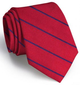 Sheffield Stripe: Tie - Red/Blue