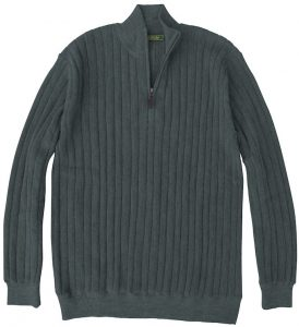 Sweater: Quarter Zip - Gunpowder