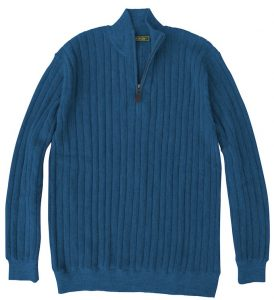 Sweater: Quarter Zip - Blue Jay
