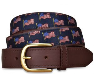 American Flag: Pedigree English Woven Belt - Navy