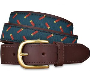 Shotgun Shells: Pedigree English Woven Belt - Green