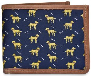 Give a Dog a Bone: Billfold Wallet - Navy