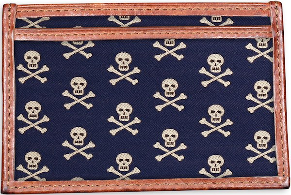 Skull & Crossbones: Card Wallet - Navy