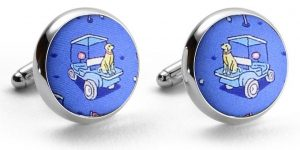 Golf Buddies: Cufflinks - Blue