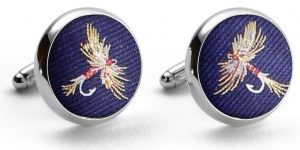 Royal Wulff: Pedigree Cufflinks - Navy
