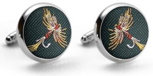 Royal Wulff: Pedigree Cufflinks - Green