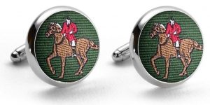 Fox Hunter: Pedigree Cufflinks - Green