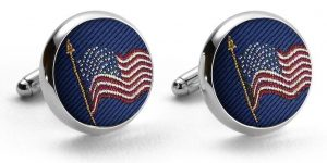 American Flag: Pedigree Cufflinks - Navy