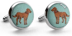 Chocolate Labs: Pedigree Cufflinks - Green
