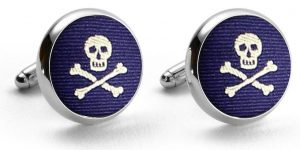 Skulls: Pedigree Cufflinks - Navy