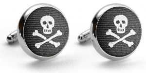 Skulls: Pedigree Cufflinks - Black