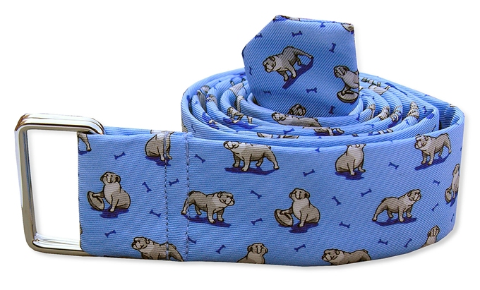 Bulldog Bonanza: Belt - Light Blue