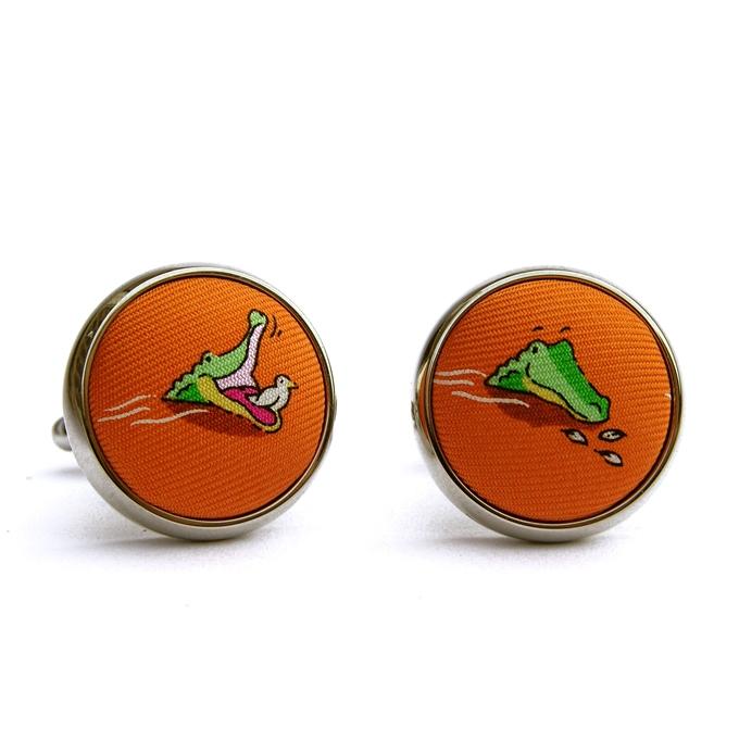 Bye Bye Birdie: Cufflinks - Orange