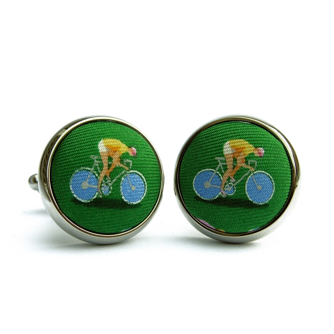 Bicycle Race: Green (Cufflinks)