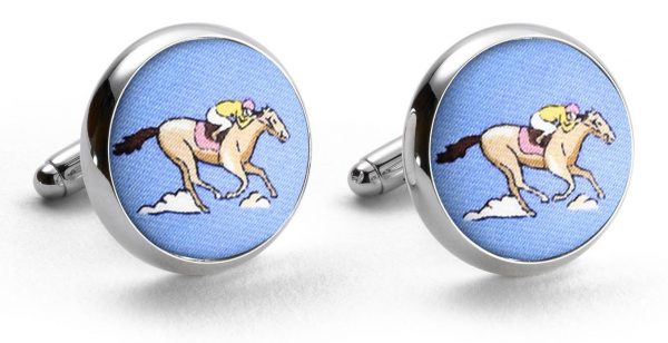And They're Off: Cufflinks - Blue