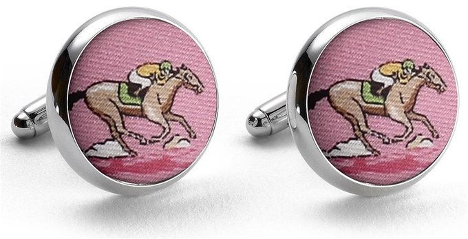 And They're Off: Cufflinks - Pink