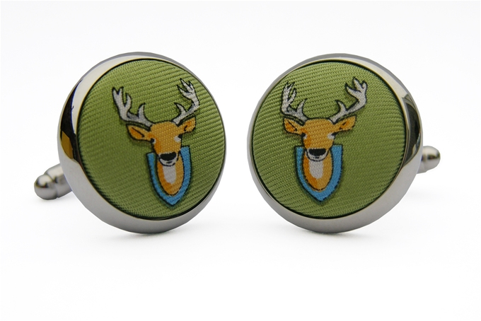 Deer Season: Soft Olive (Cufflinks)