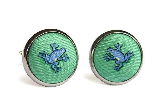 Frogger: Cufflinks - Seafoam