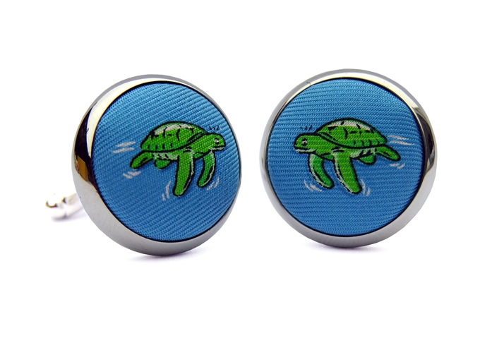 Sea Turtle Surprise: Blue (Cufflinks)