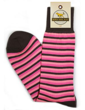 Triple Stripe - Chocolate/Pink