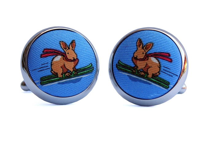 Back Bowl Bunnies: Cufflinks - Blue