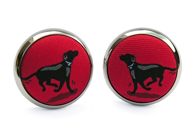 Black Lab Heaven: Cufflinks - Red