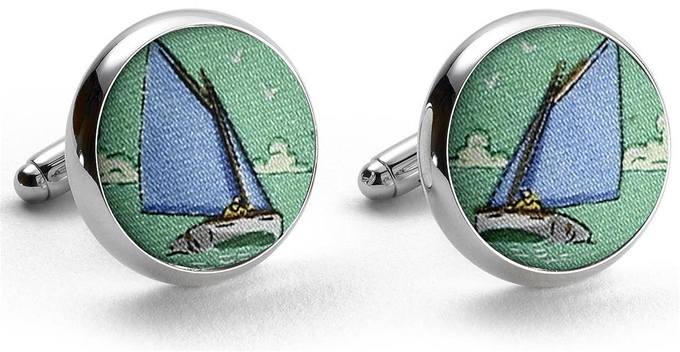 Catboat Race: Cufflinks - Green