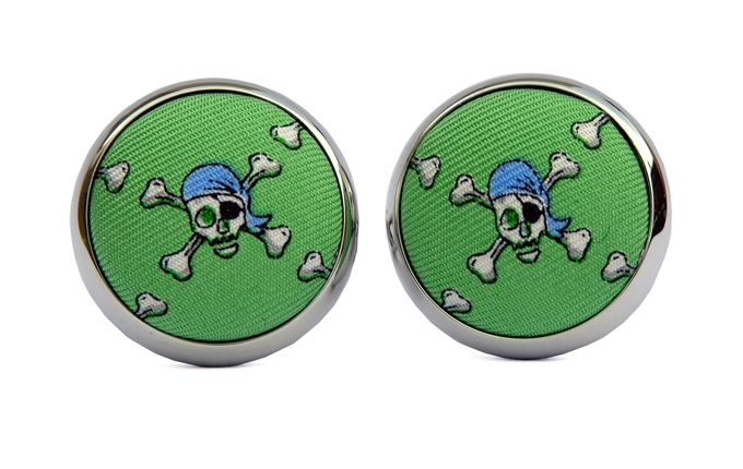 Jolly Roger: Cufflinks - Mint