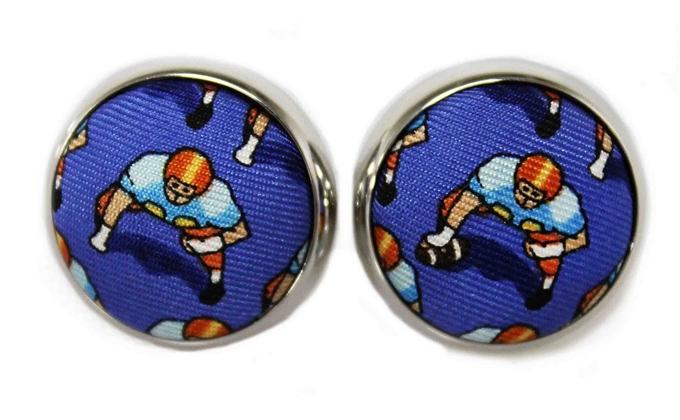1st & Ten: Cufflinks - Blue