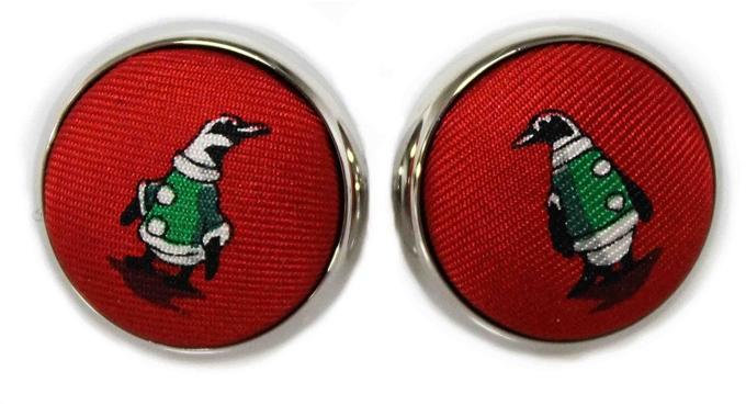North Pole Parade: Cufflinks - Red