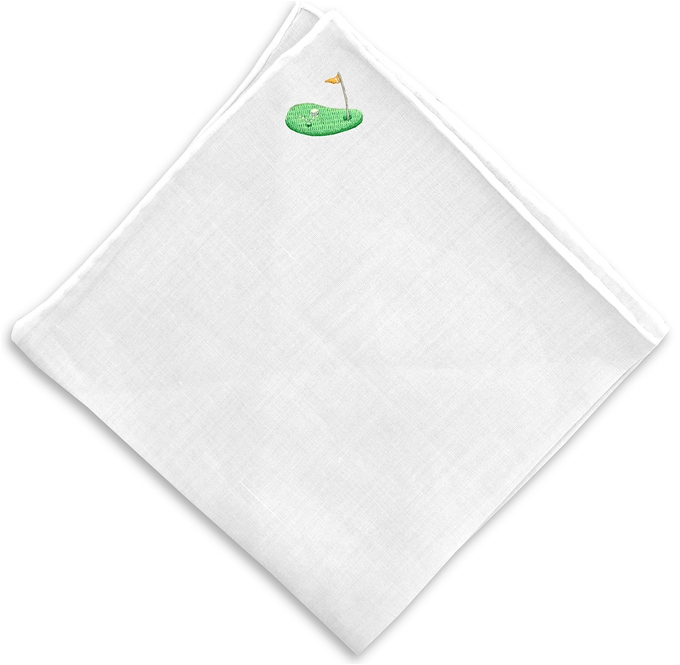 Hole in One: White Linen Pocket
