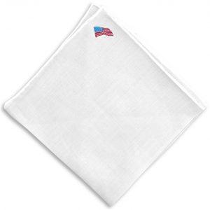 Flag Day: White Linen Pocket