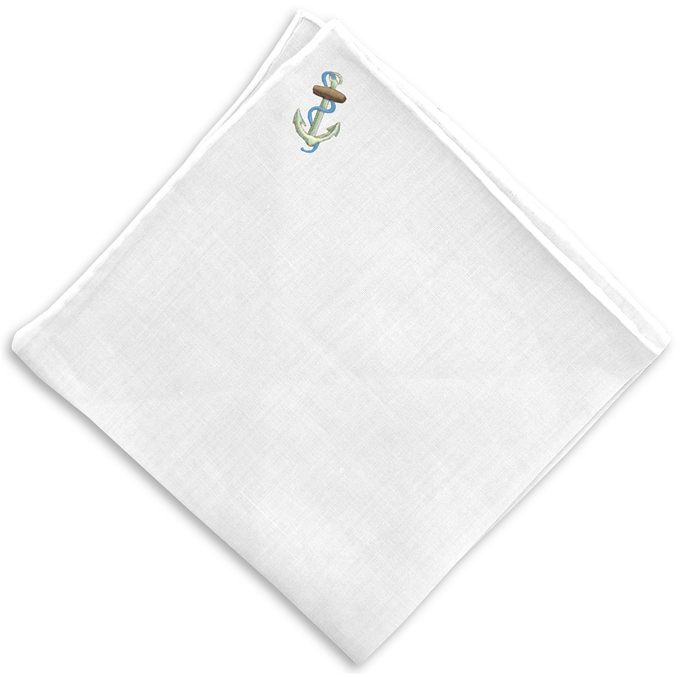 Ahoy: White Linen Pocket