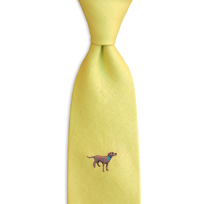 Dog Daze: Linen - Yellow