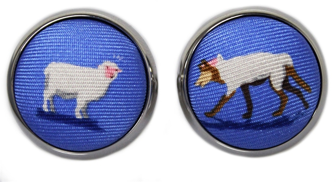 A Wolf in Sheep's Clothing: Cufflinks - Blue