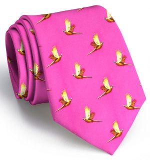 Pheasant Flight: Tie - Fuchsia
