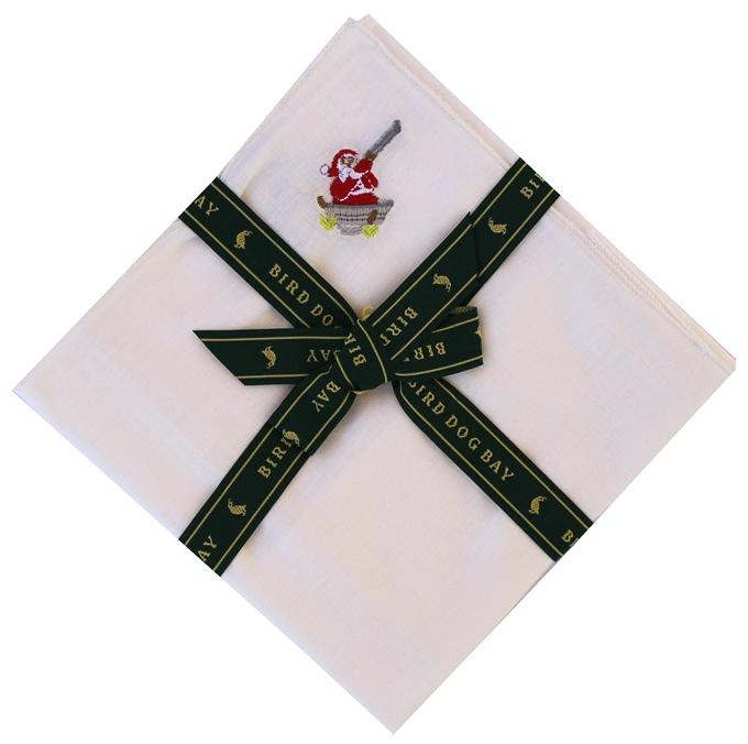 Santa Blast: White Linen Pocket