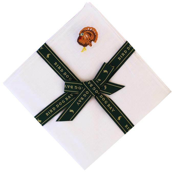 Turkey Time: White Linen Pocket