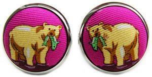 Bear Necessities: Cufflinks - Magenta