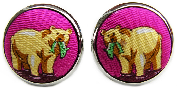 Bear Necessities: Cufflinks - Magenta