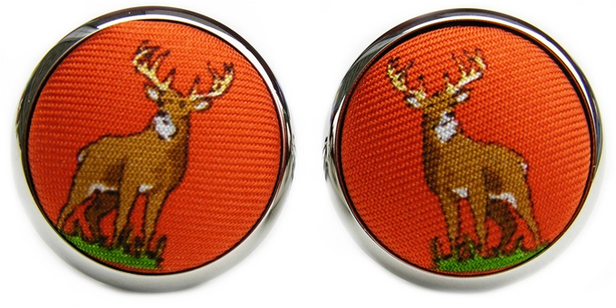 Buck Stops Here: Cufflinks - Orange