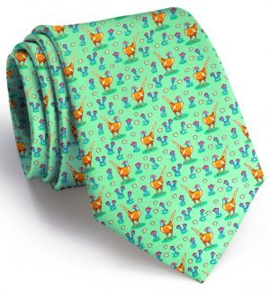 Pheasant Fields: Tie - Mint